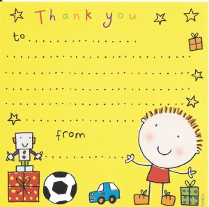 Boys Thank You Note